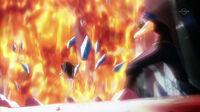 Natsu attacks the tower.JPG