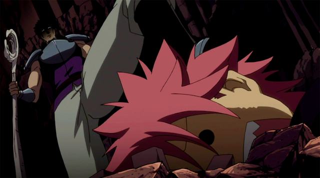File:Natsu under Byro's boot.png