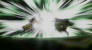 Laxus and Orga clash
