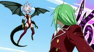 Freed and Mirajane in the sky
