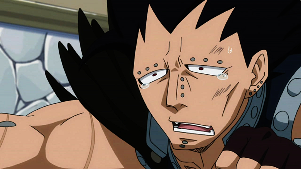 Gajeel being dramatic.jpg