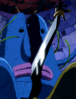 Gajeel beats the monster.png