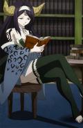 Seilah reading a book