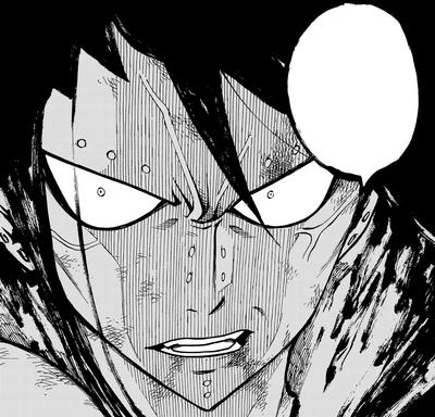 Gajeel's rage towards Bloodman