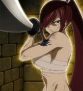 Erza battles Kyôka