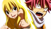Lucy meets up with Natsu on Tenrou