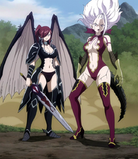Erza and Mirajane defend Crawford