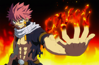 Natsu challenges Sting and Rogue