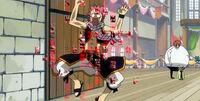 Natsu stuck in Freed's enchantment.jpg