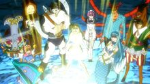Lucy standing with her Celestial Spirits.jpg