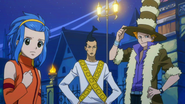 Droy, Levy, and Jet decide to fight for Natsu