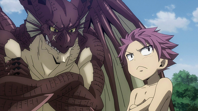 File:Igneel teaches little Natsu.png