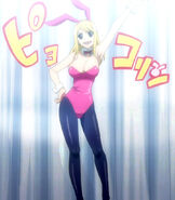 Lucy in bunny suit