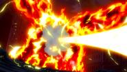 Atlas Flame hit by Laxus' Roar