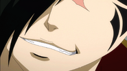 Future Rogue smirks at Natsu's question
