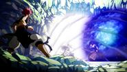Natsu vs. Sting and Rogue