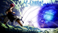 Natsu vs. Sting and Rogue