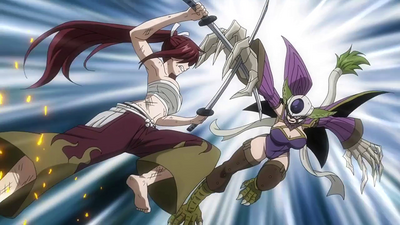 Erza and Kyôka clash