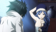 Juvia offers Gray water
