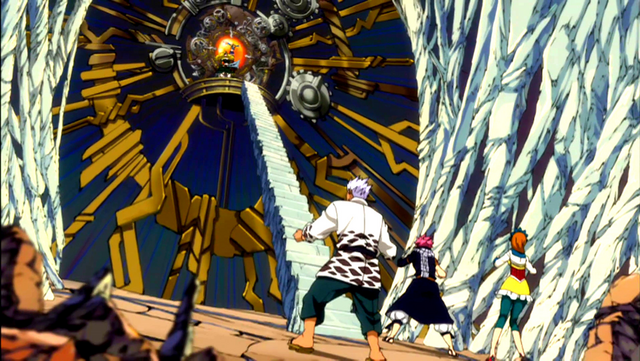 File:Natsu, Elfman and Coco find Lucy.png