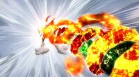 Natsu defends against Dark Capriccio