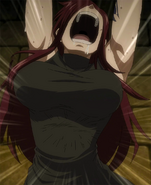 Erza tortured by Sensation Curse
