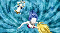 Lucy's summoning inside Juvia's body.jpg