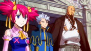 Team Lamia Scale watches Natsu's battle