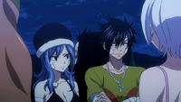 Gray and Juvia mention being healed by Sherria