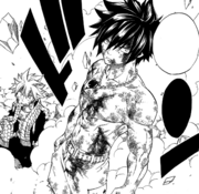 Gray defends Natsu from Mard
