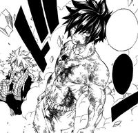 Gray defends Natsu from Mard