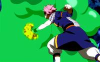 Natsu attacks the slime