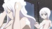 Mirajane and Lisanna take a bath