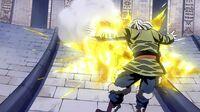 Natsu charges towards Zero