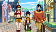 Alzack and Bisca with Romeo