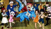 Natsu with dragon