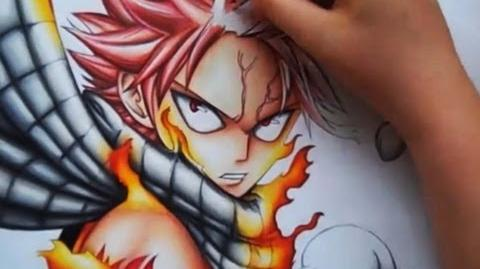Drawing Natsu Dragneel from Fairy Tail