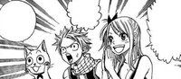 Natsu,-Happy,-and-Lucy-Amazed-with-Mirajane's-Transformation