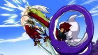 Cobra kicks Erza