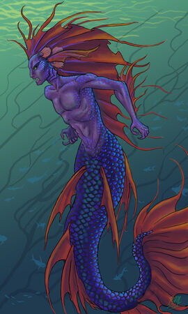 Betta merman by namingway-d423z5e