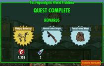 FoS Post-Apocalyptic World Problems rewards