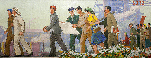 File:PyongYangMetroMural.jpg