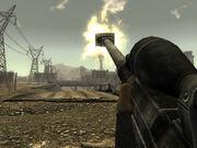 Materiel rifle back shot