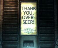 Vault 101 Thank you, Over-seer!