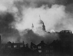 Herbert Mason - St Pauls Cathedral London Blitz - 1940