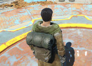 Fo4 traveling leather coat backpack
