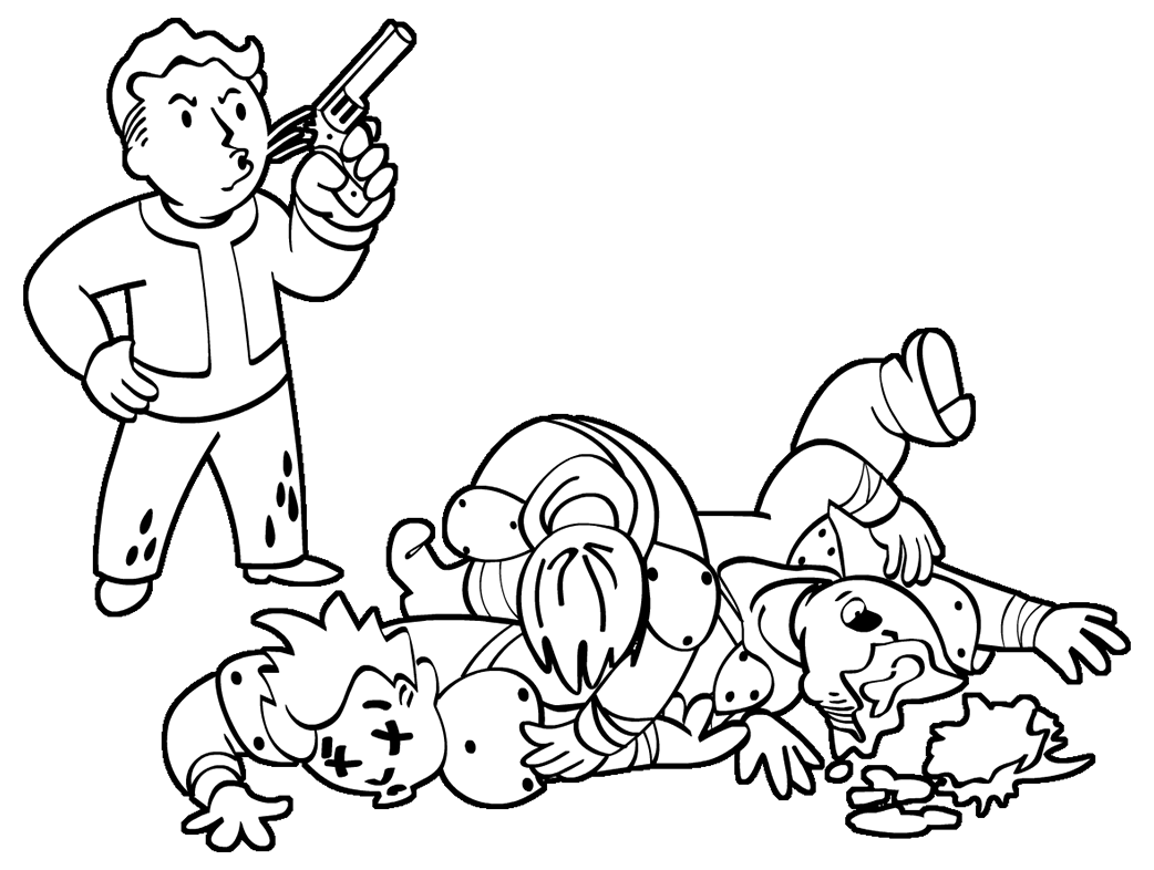 fallout coloring pages - open season fallout wiki fandom powered by wikia