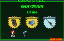 FoS Out of the Vault, Into the Shadows rewards