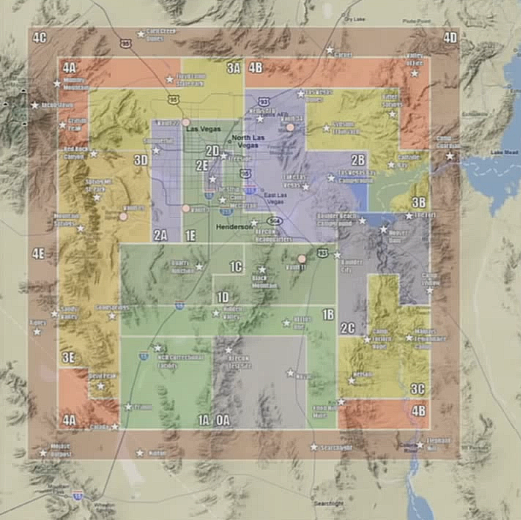Fallout New Vegas Map Fallout Wiki FANDOM Powered By Wikia - Fallout game map of us