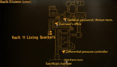 Vault 11 lower level map.png